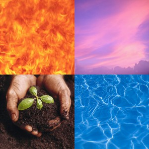 Four Elements: Fire, Air, Earth, and Water